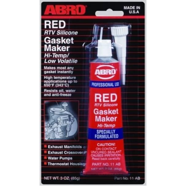 Герметик прокладок красный высокотемпературный ABRO