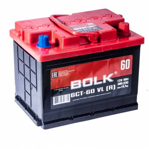 Аккумулятор 242x175x190 60Ач 500А BOLK